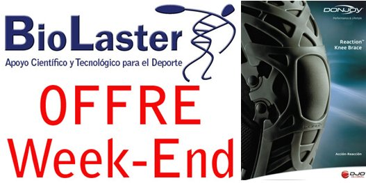 Offre de Week-end à Biolaster: Attelle Reaction Knee Brace