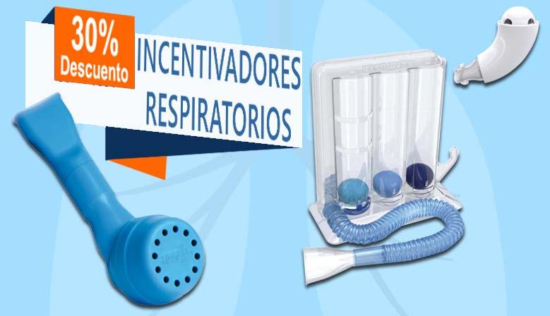 Los incentivadores respiratorios al 30% de descuento