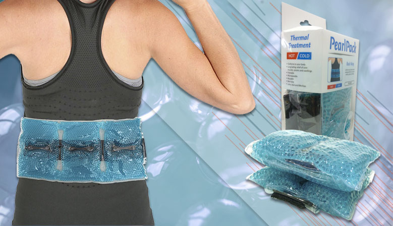 Envoltura Lumbar de Perlas para la aplicación de frío a nivel lumbar