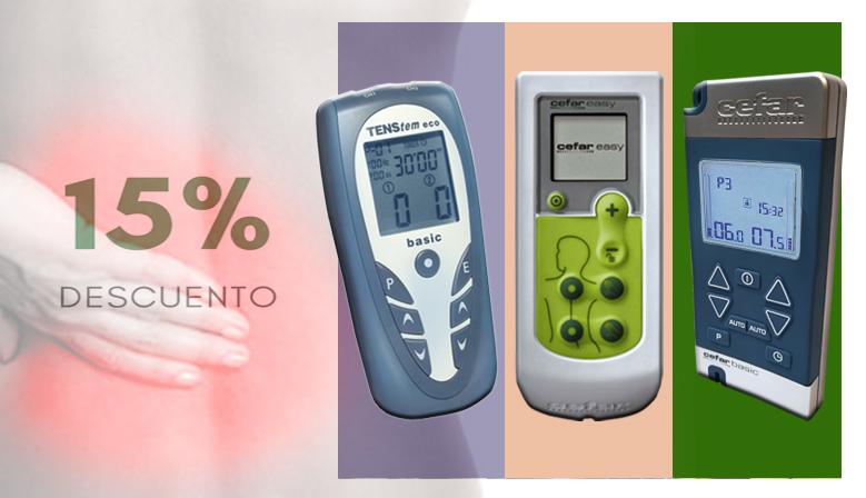 Los aparatos estimuladores TENS al 15% de descuento